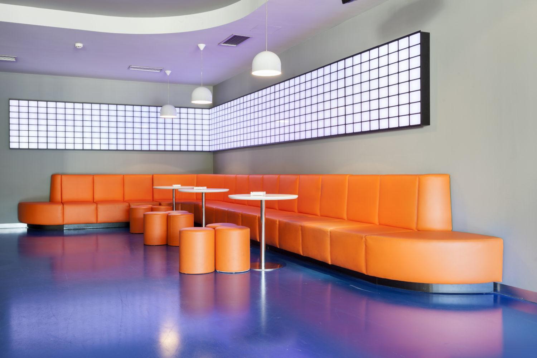 futuristic disco night club interior